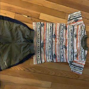 Gently worn boys shirt/short set